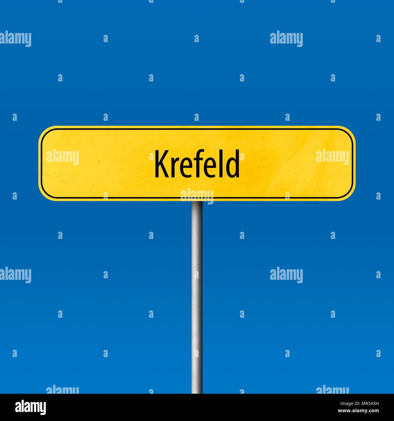 Krefeld - town sign, place name sign - Stock Image