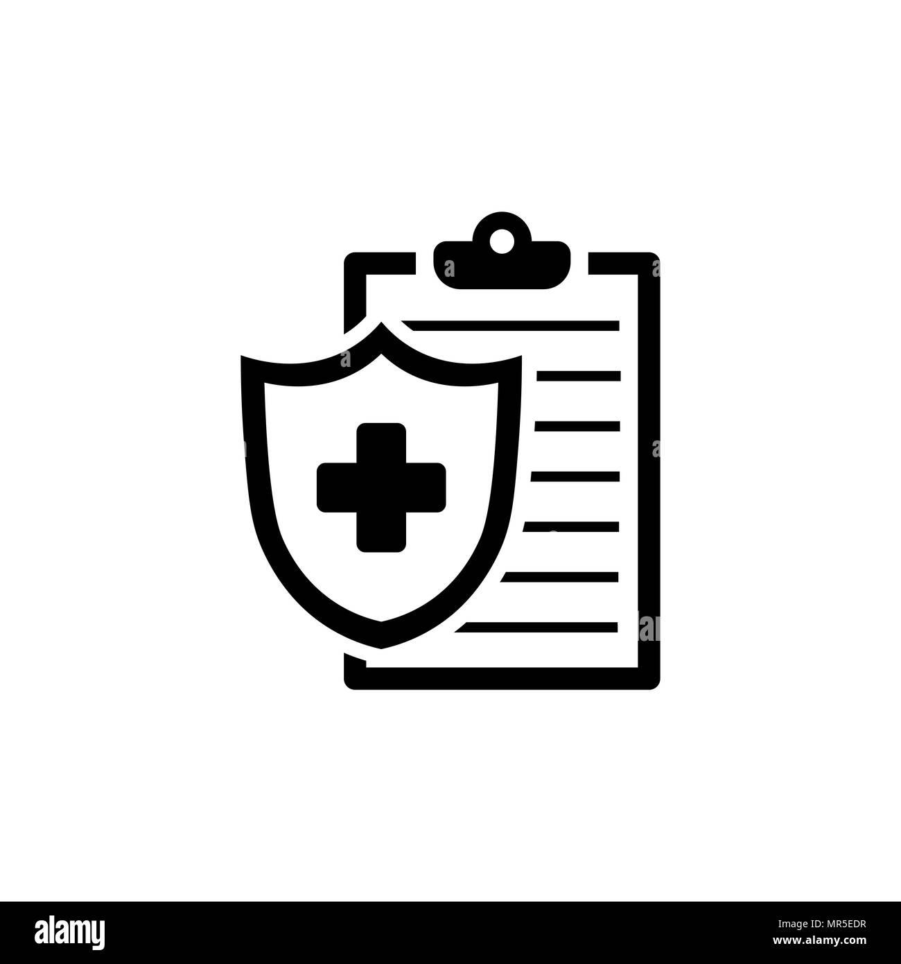 medical insurance icon health insurance symbol stock vector art