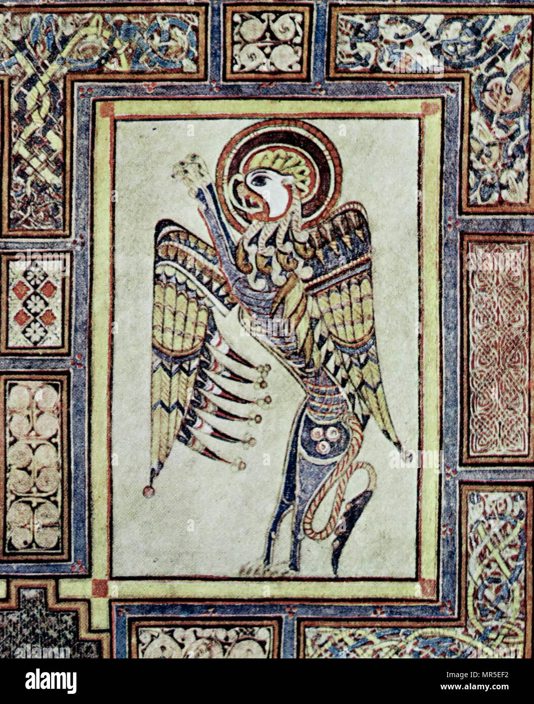 Evangelical Symbol From The Book Of Kells Fol 27 V The Book Of