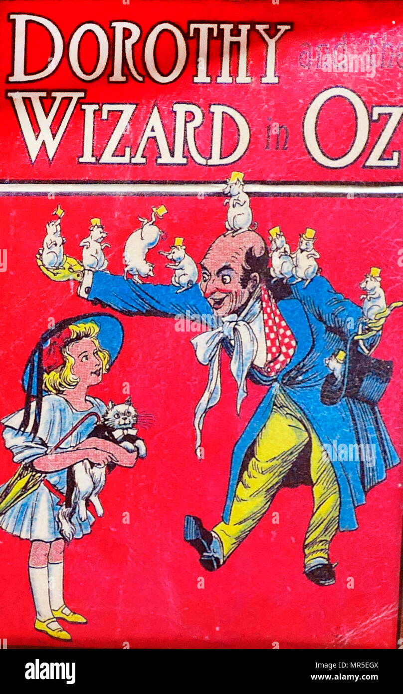 Book cover of 'Dorothy and the Wizard of Oz'; an American children's novel written by author L. Frank Baum' first published in 1900. - Stock Image