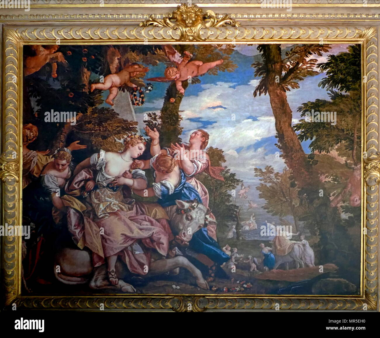 Paolo Veronese  (1528–1588) 'The abduction of Europa' circa 1578. oil on canvas. Doge's Palace, Venice - Stock Image