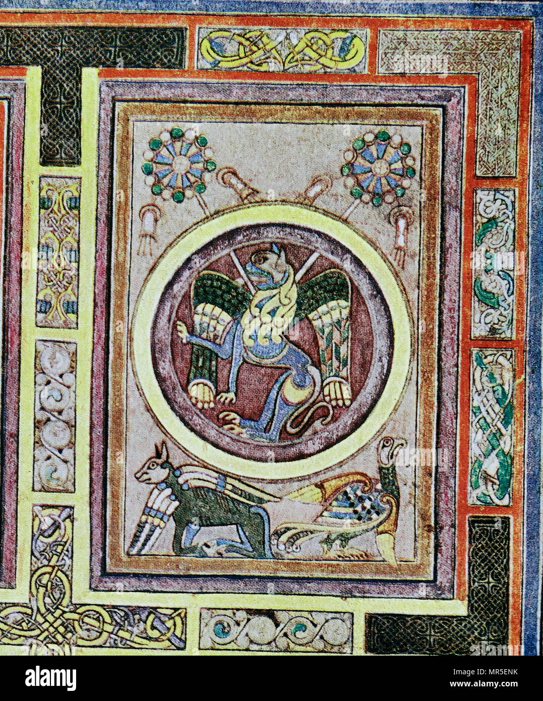Evangelical Symbol Fol 129 V From The Book Of Kells The Book Of