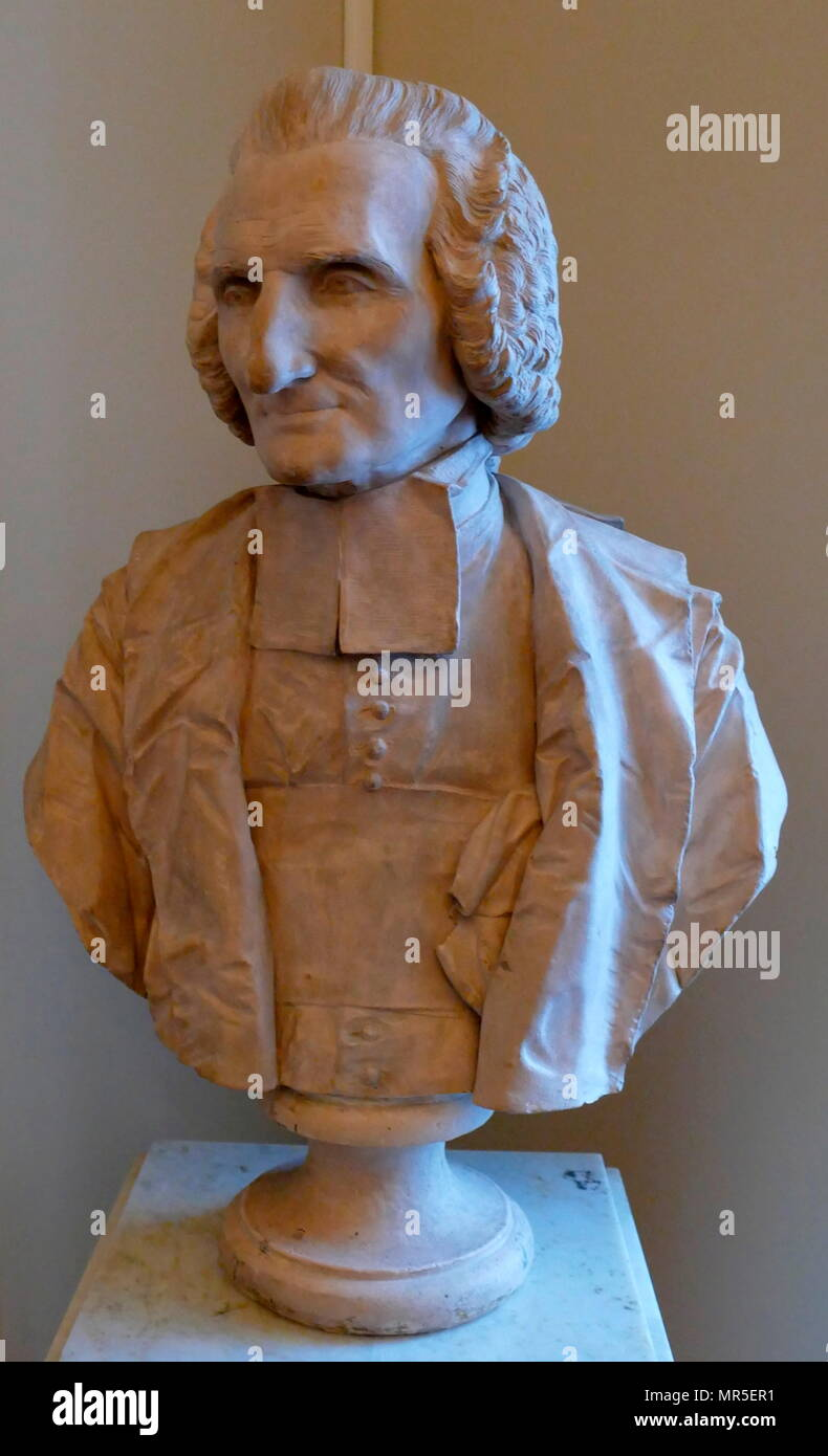 Bust by Félix Lecomte (1737 – 1817)  depicting Paul-Henri Thirty, Baron d'Holbach; French-German author, philosopher, encyclopaedist and prominent figure in the French Enlightenment. - Stock Image