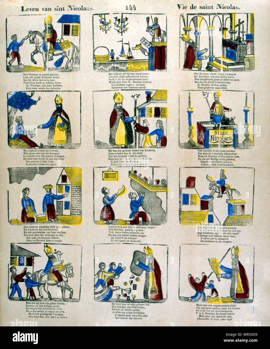 image regarding St Nicholas Prayer Printable titled French 19th century examples depicting the lifetime and