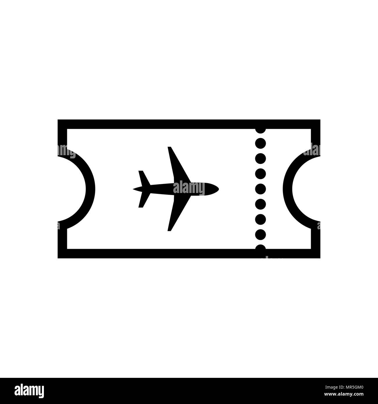 The Blank Ticket Plane Icon Travel Symbol Stock Vector Art