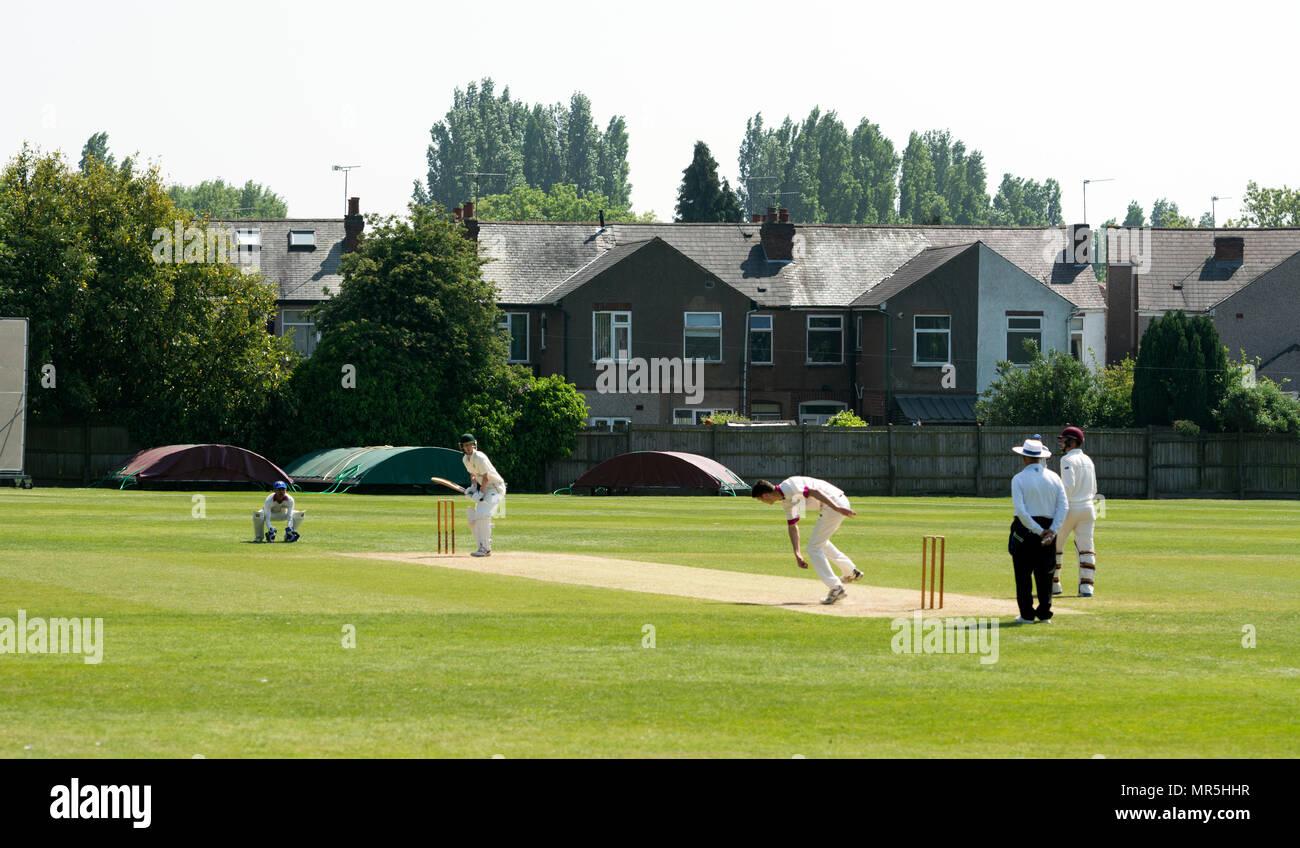 University sport - men`s cricket, Coventry, UK Stock Photo