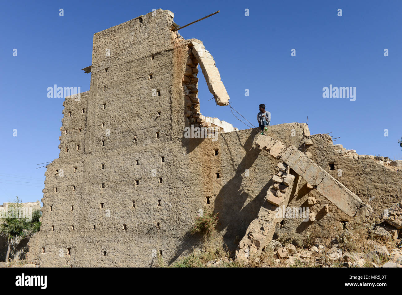 ETHIOPIA, Tigray, Zalembessa, border town to Eritrea, war damages from the ongoing conflict between Ethiopia and Eritrea - Stock Image