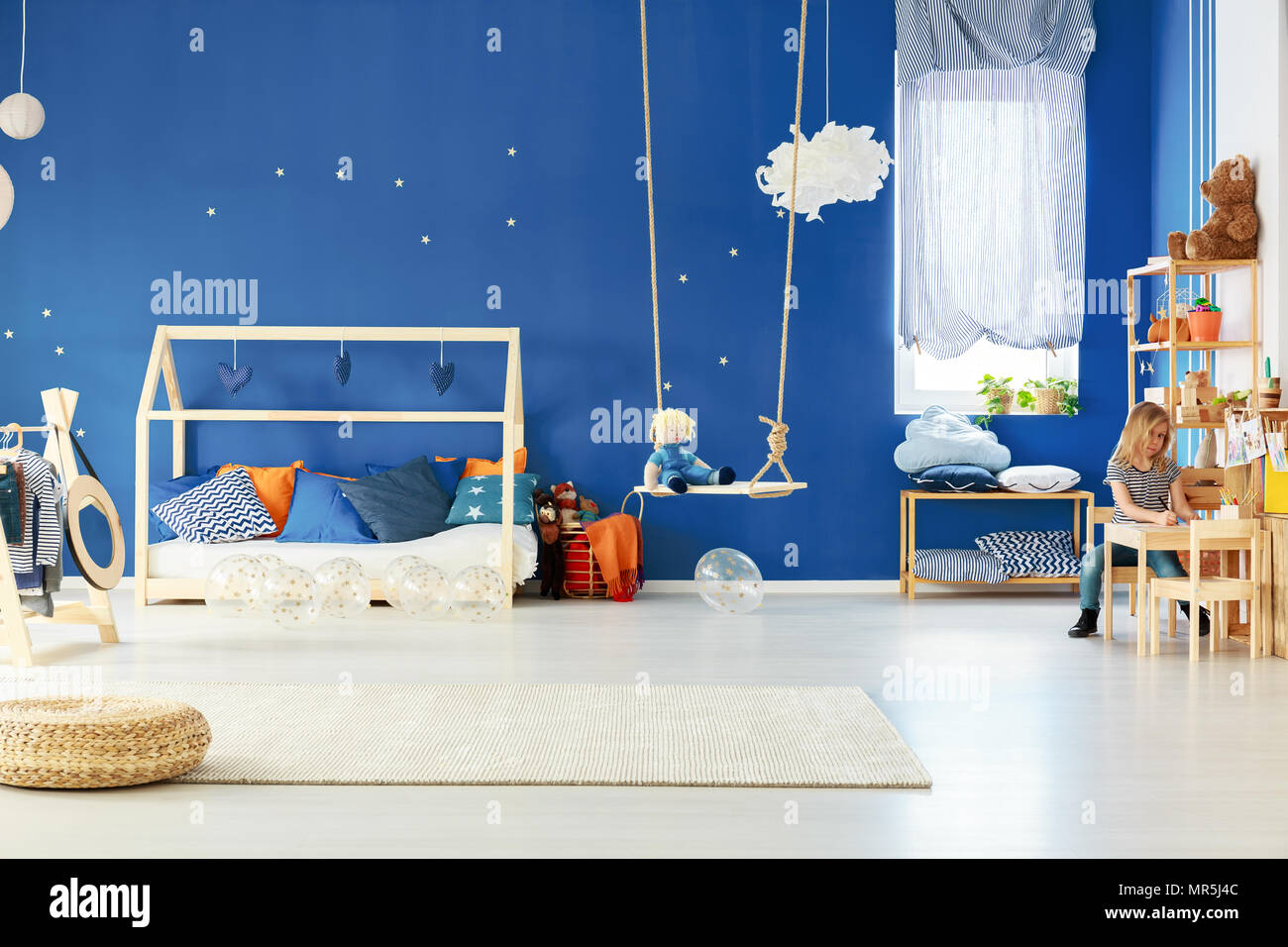 Functional Child Room With Swing Diy Bed Table And