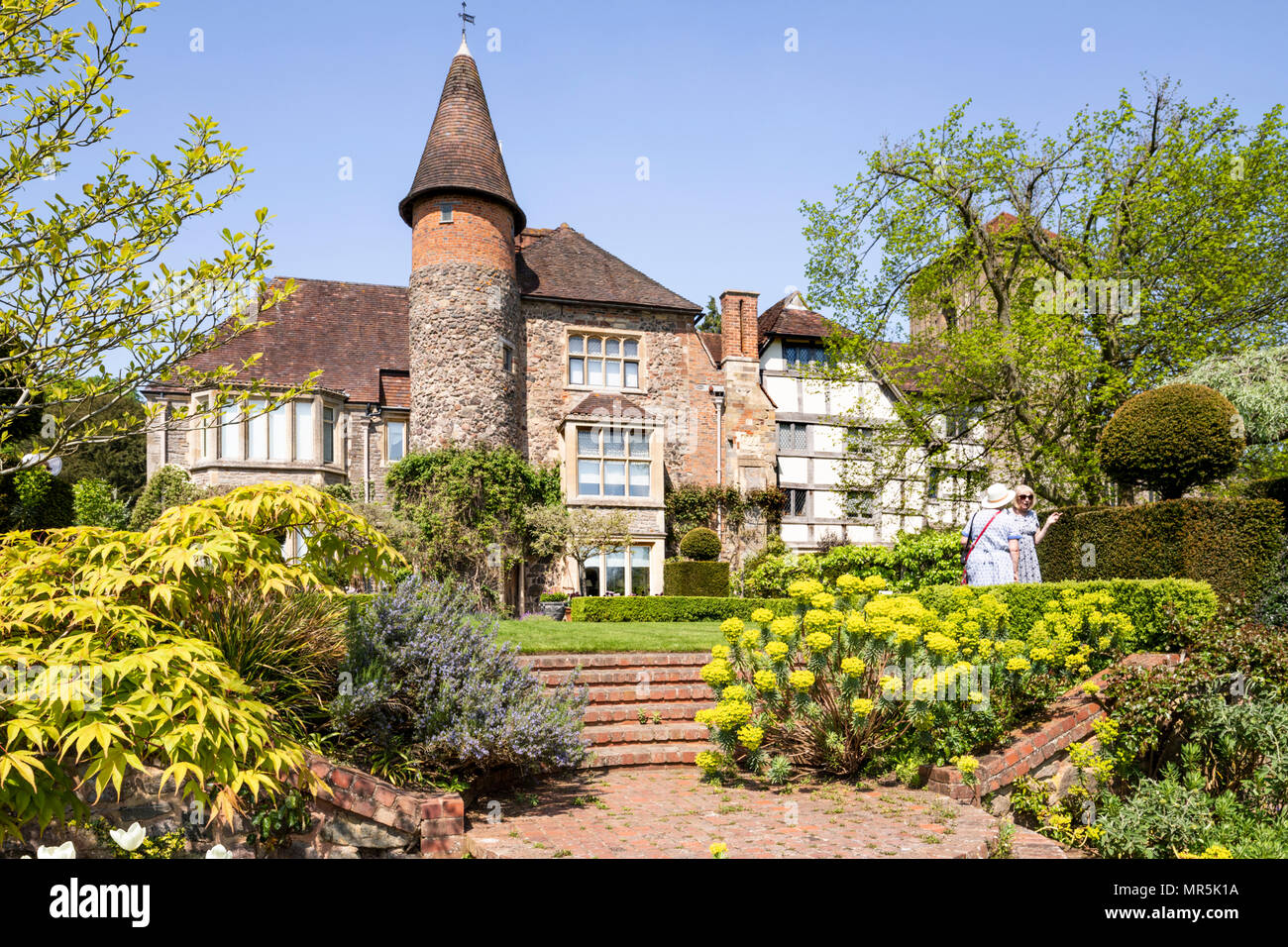 Little Malvern Court a 15th century Priors Hall at Little Malvern, Worcestershire UK - Stock Image