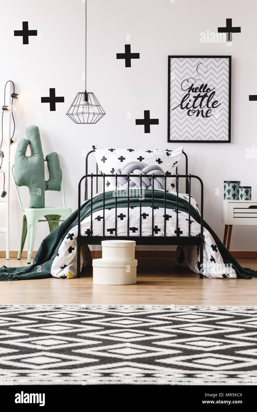 Super Black And White Geometric Carpet In Kids Room With Toy On Creativecarmelina Interior Chair Design Creativecarmelinacom