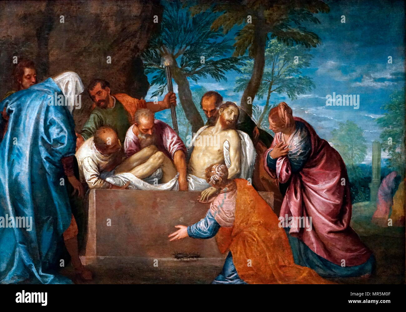 Entombment of Christ by Paolo Veronese - circa 1575-1580 - Stock Image