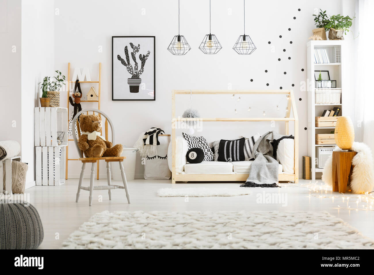 Fantastic White Child Bedroom With Carpet Pouf Chair Bed And Ncnpc Chair Design For Home Ncnpcorg