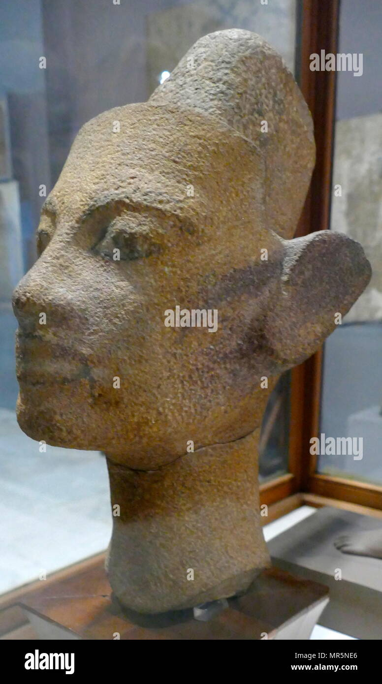 Granite statue of the head of Queen Nefertiti, from the workshop of