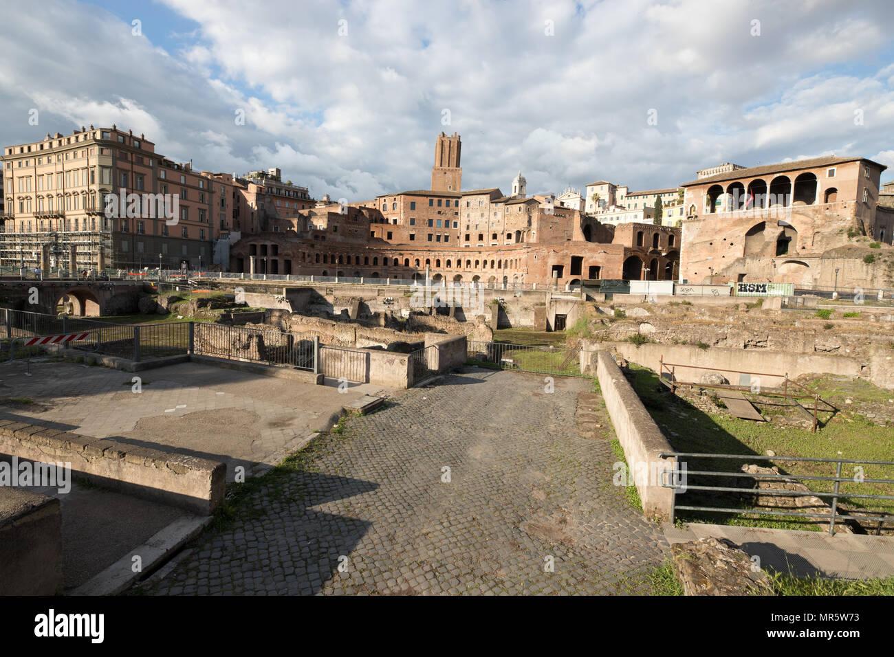 Rome, Italy. Trajan's Market. - Stock Image