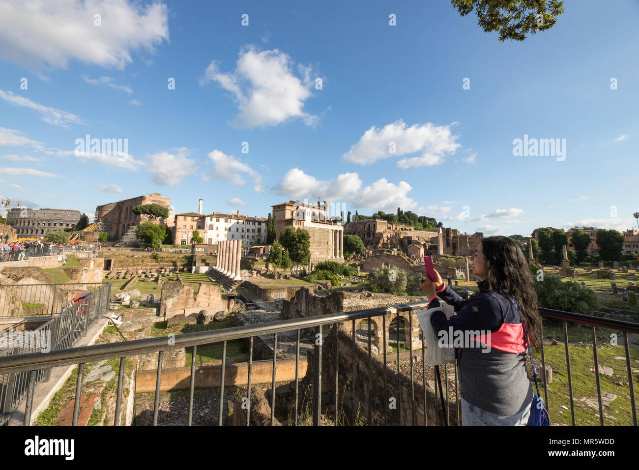 Roman Forum, Foro Romano, archelogic area - Stock Image