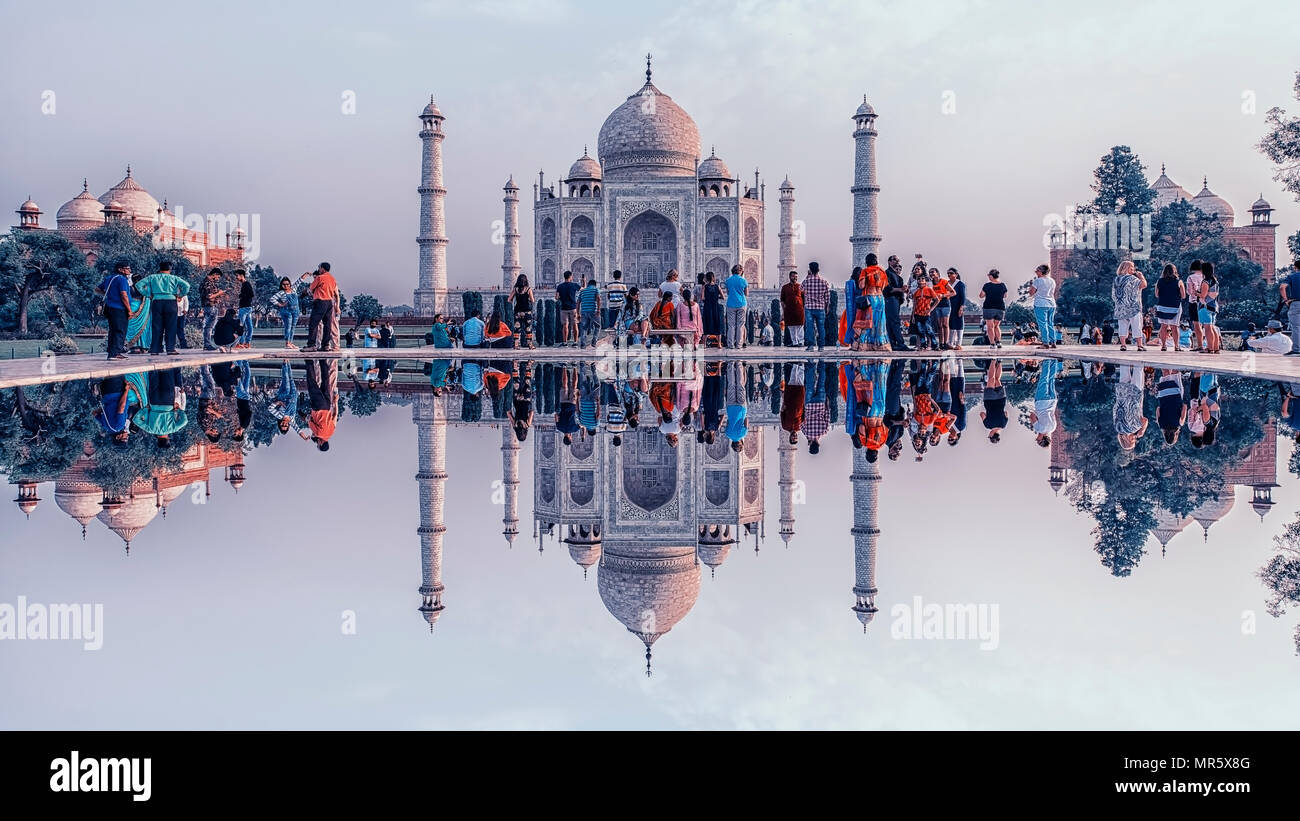 Taj Mahal in Agra - Stock Image