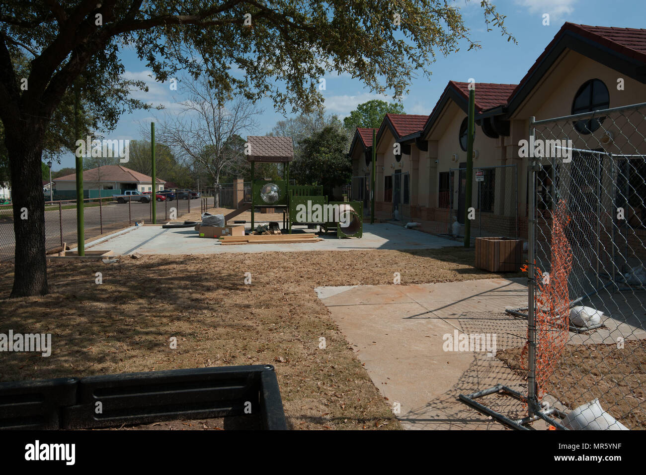 Maxwell AFB, Ala. -  Ongoing construction on Mar 23 2017 at the Child Development Center, Bldg 22. (US Air Force photo by Bud Hancock/Released) - Stock Image