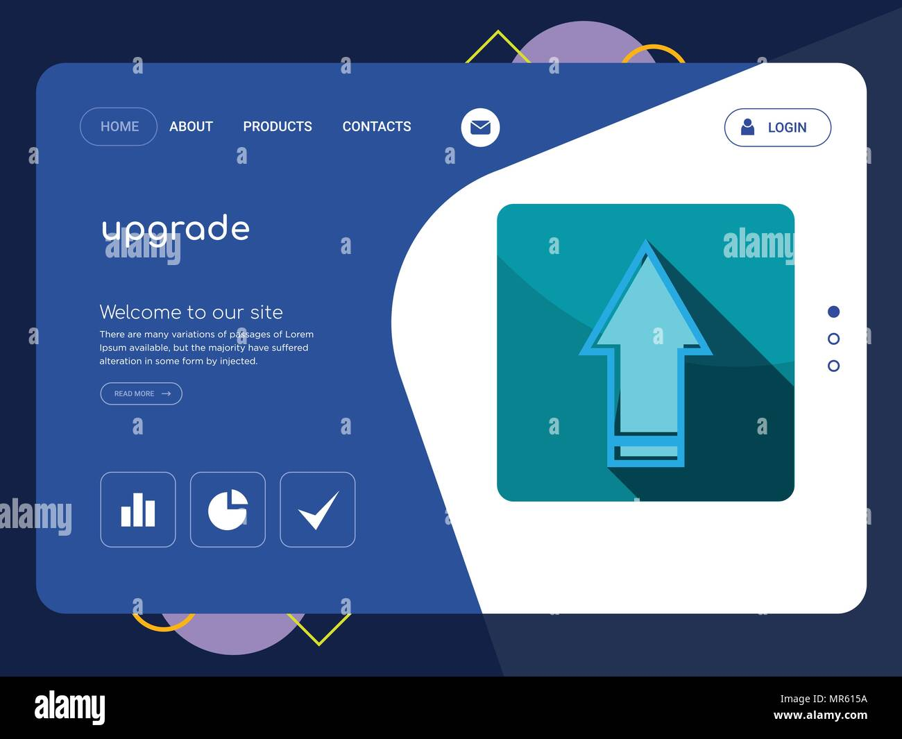 Quality One Page Upgrade Website Template Vector Eps Modern Web