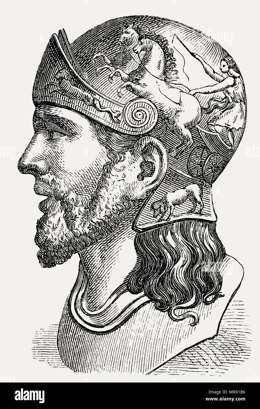 Masinissa, or Masensen, Masensen, c.238 BC – 148 BC, the first King of Numidia - Stock Image