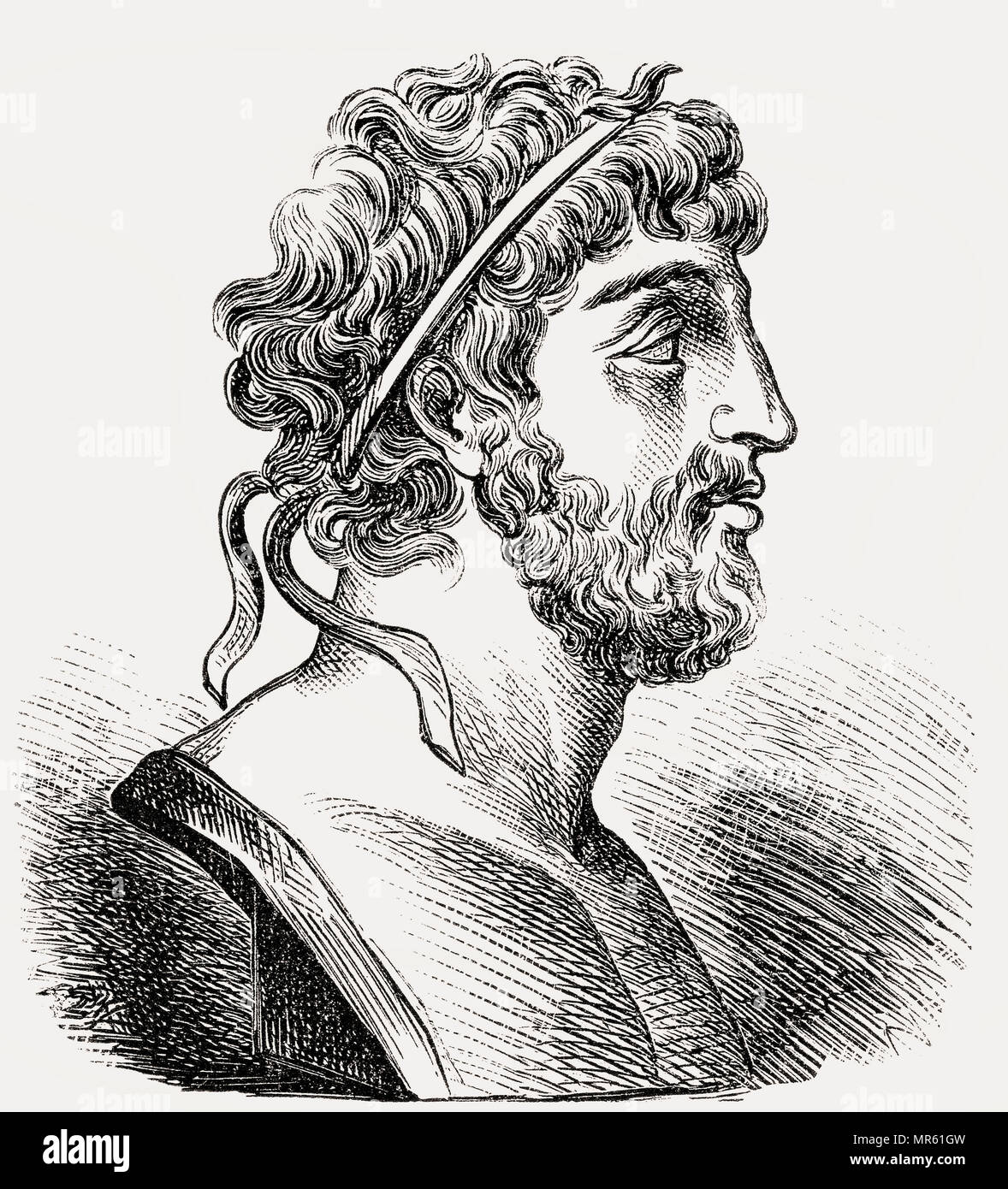 Philip V, 238–179 BC, King of the ancient kingdom of Macedonia from 221 to 179 BC - Stock Image