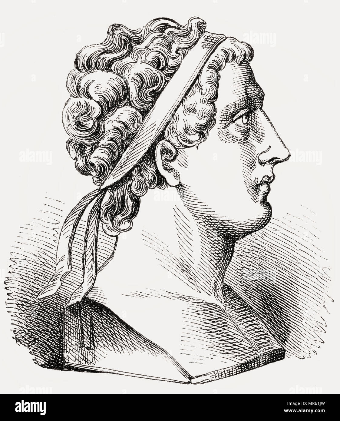 Antiochus III the Great, c. 241–187 BC, a Hellenistic Greek king, the 6th ruler of the Seleucid Empire - Stock Image