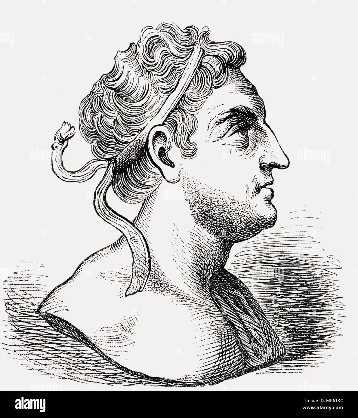 Prusias I Cholus, c. 243 – 182 BC,a king of Bithynia - Stock Image