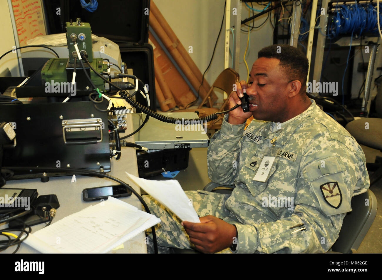 Staff Sgt  Kevin Henley, an information systems technician