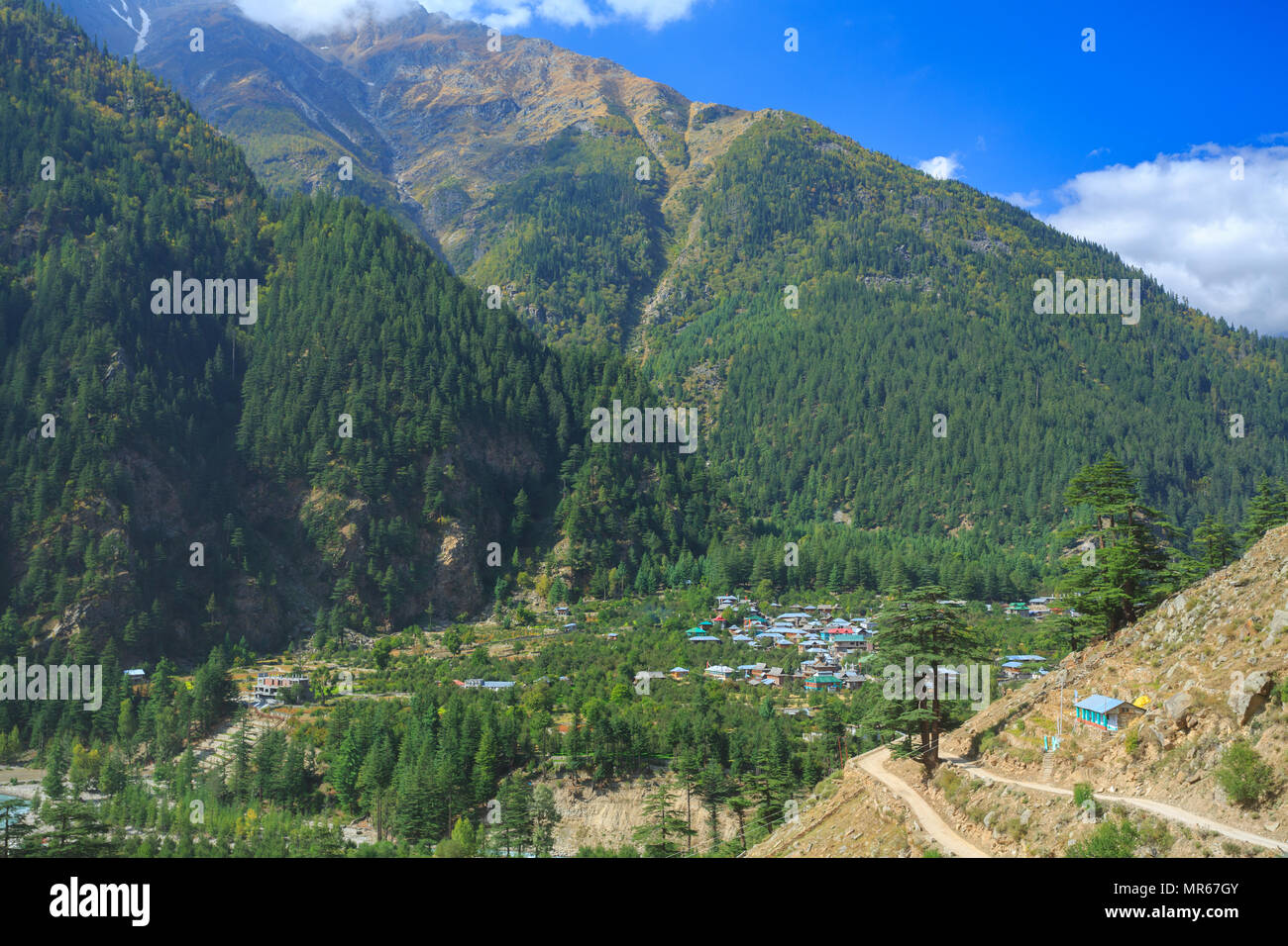 Beautiful Sangla Valley (Himachal Pradesh, India) - Stock Image