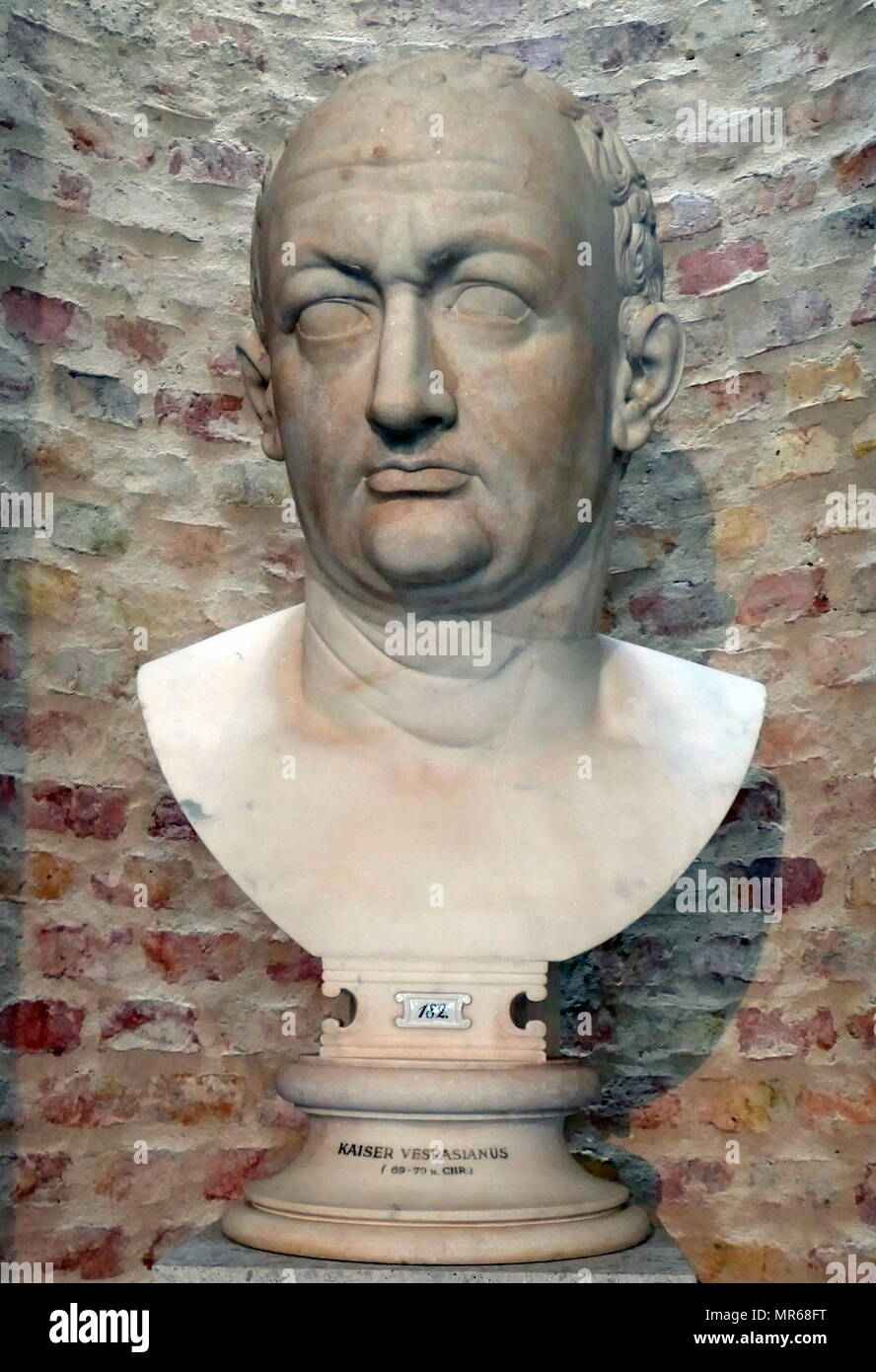 Vespasian ( AD 9 – 23  AD 79]); Roman emperor from AD 69 to AD 79. Vespasian founded the Flavian dynasty that ruled the Empire for twenty-seven years. - Stock Image