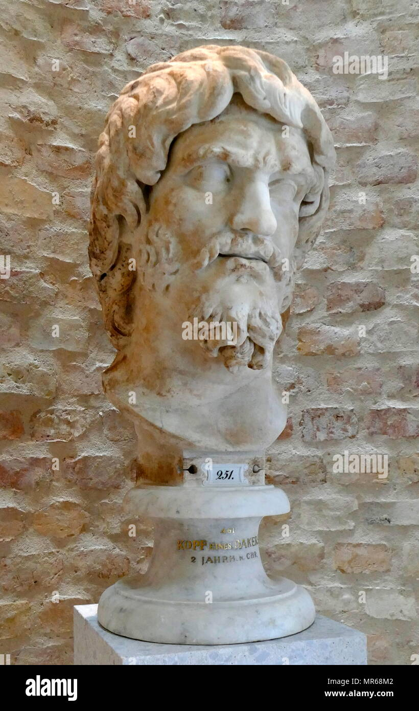 Bust of Mithras (Roman) from Marmor, Libya. 2nd Century BC - Stock Image