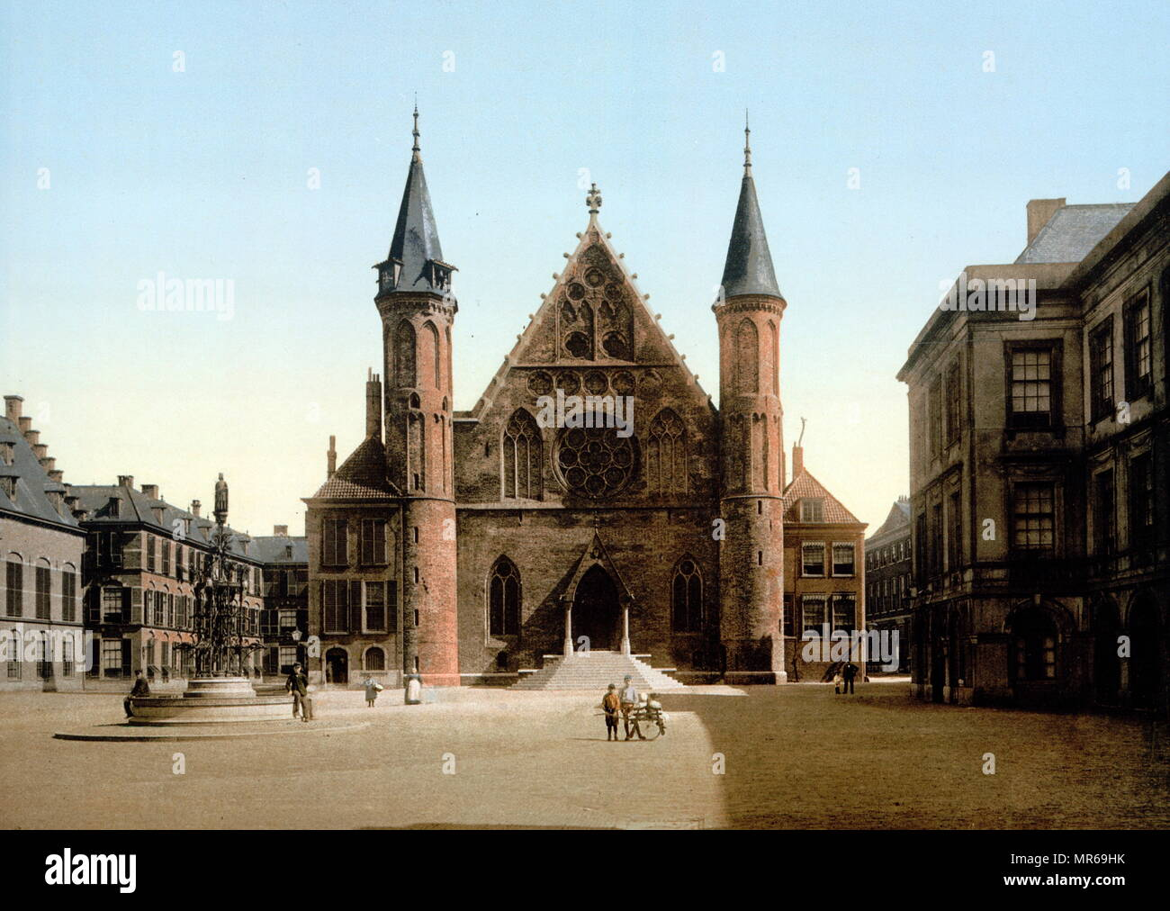 Postcard, 1900. Ridderzaal (the Knights' Hall), Hague, Holland - Stock Image