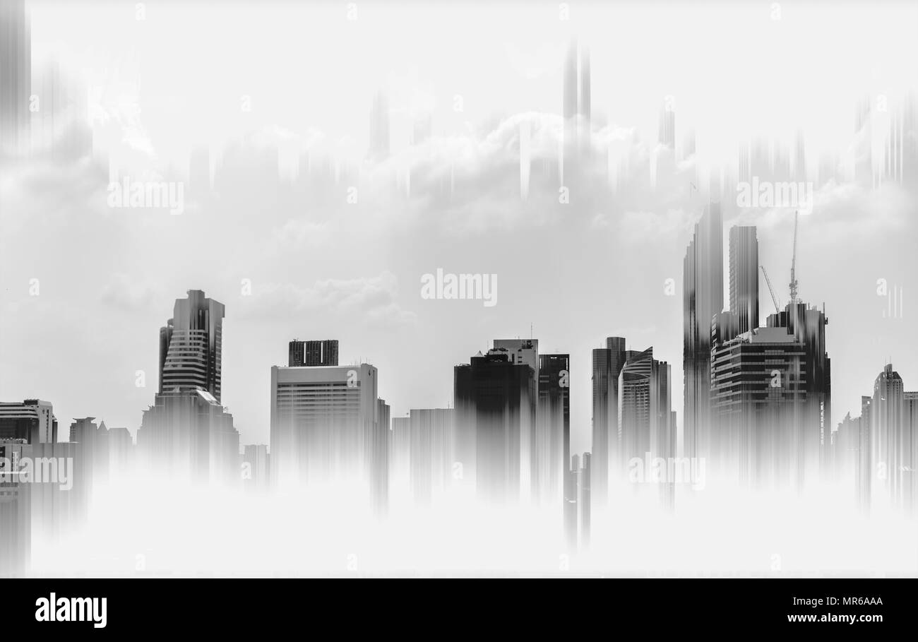 Abstract Modern Buildings Background Black And White Stock Photo Alamy