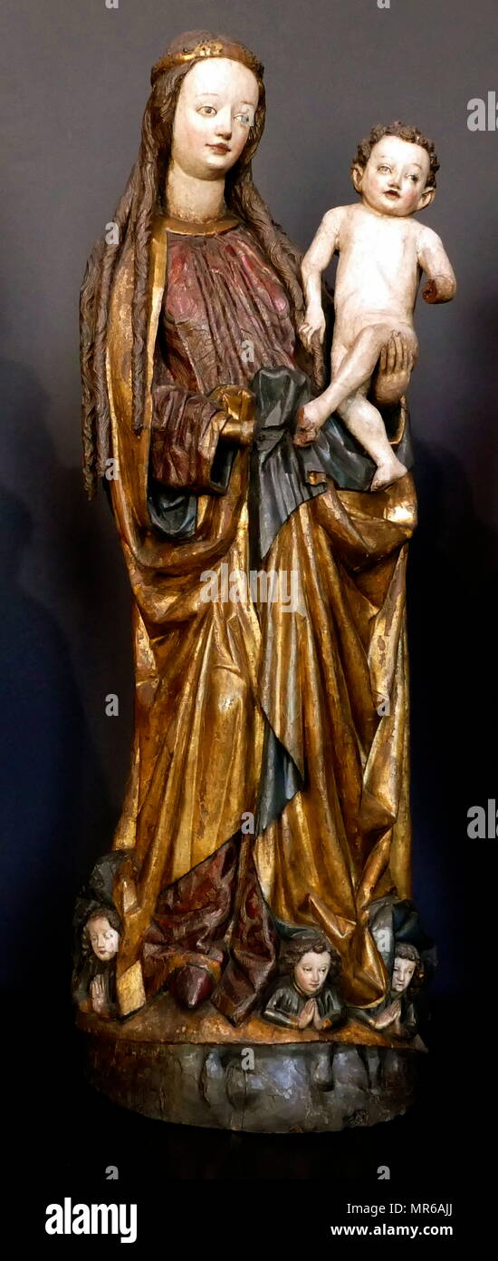 Polyptych from St Peter and Paul church in Legnica Poland. 1466 - Stock Image