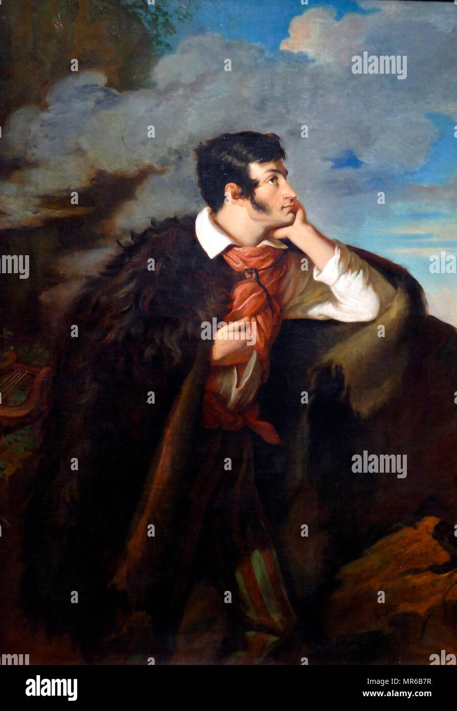 Portrait of Adam Mickiewicz. Date 1827-1828, by Walenty Wankowicz (1799–1842). Adam Bernard Mickiewicz (1798 – 1855) was a Polish poet, dramatist, essayist, publicist, translator, professor of Slavic literature, and political activist - Stock Image