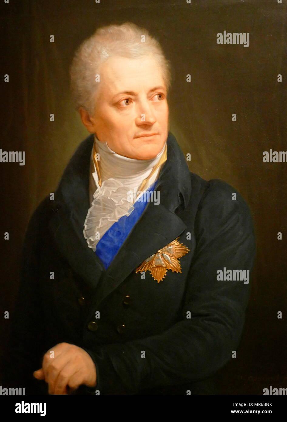 Kazimierz Rzewuski (c. 1750-1820), a member of the Polish parliament (Sejm). Portrait by Andrea Appiani, 1806 - Stock Image