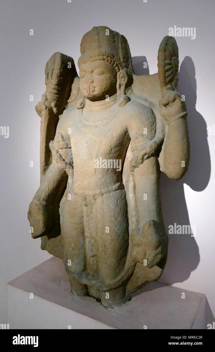 Hindu Deity stone statue from Harihara Mathura, region, Uttar Pradesh, India, 7th century AD - Stock Image
