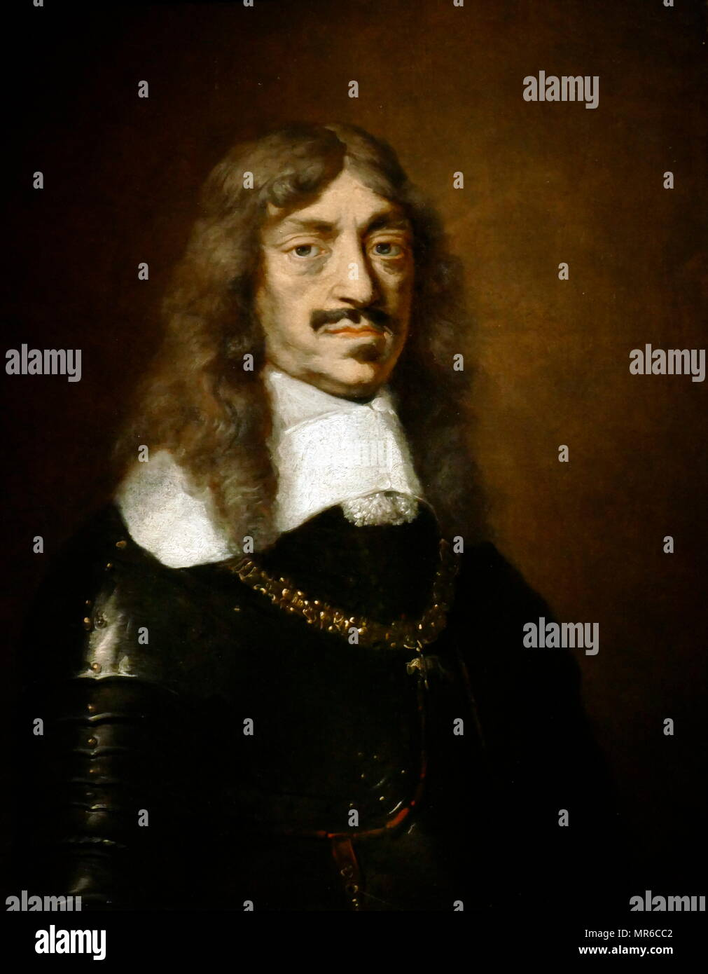 Jan Kazimierz, King of Poland, 1648-68. portrait by Daniel Schultz, ca. 1658. John II Casimir (1609 –  1672), was King of Poland and Grand Duke of Lithuania, and titular King of Sweden 1648–1660. - Stock Image