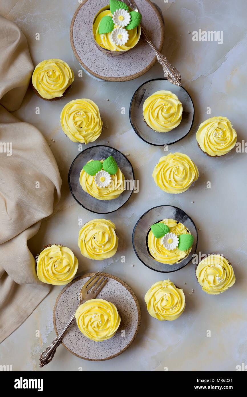 Carrot Cupcake - Stock Image
