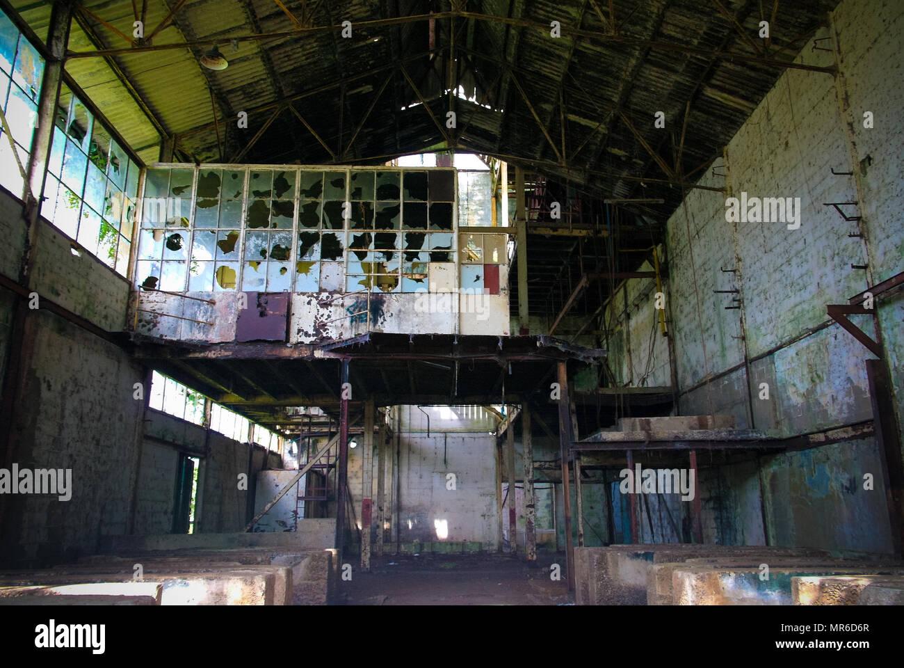 Former rum factory at Marienburg in Suriname - Stock Image