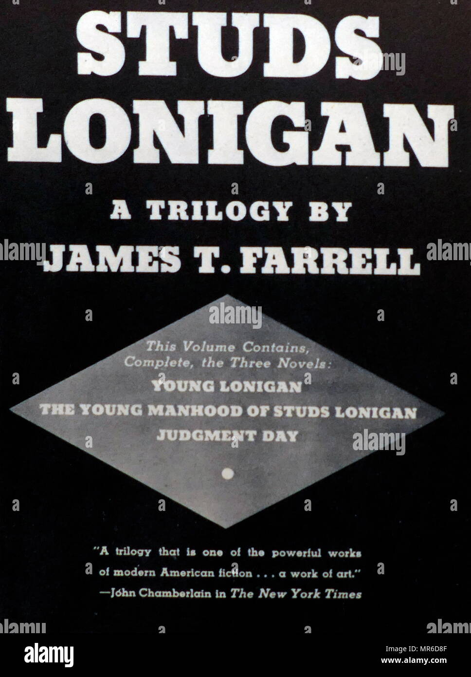 Studs Lonigan trilogy, by James Thomas Farrell (February 27, 1904 – August 22, 1979); American novelist The trilogy, which was made into a film in 1960 and a television series in 1979. - Stock Image