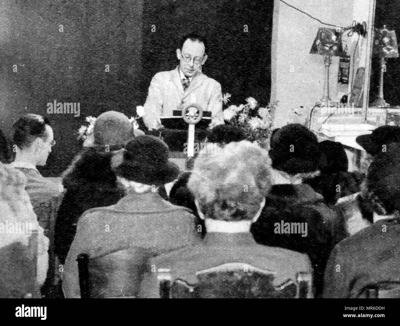 The Psychic spiritualist Medium, Horace S. Hambling in the 1930's - Stock Image
