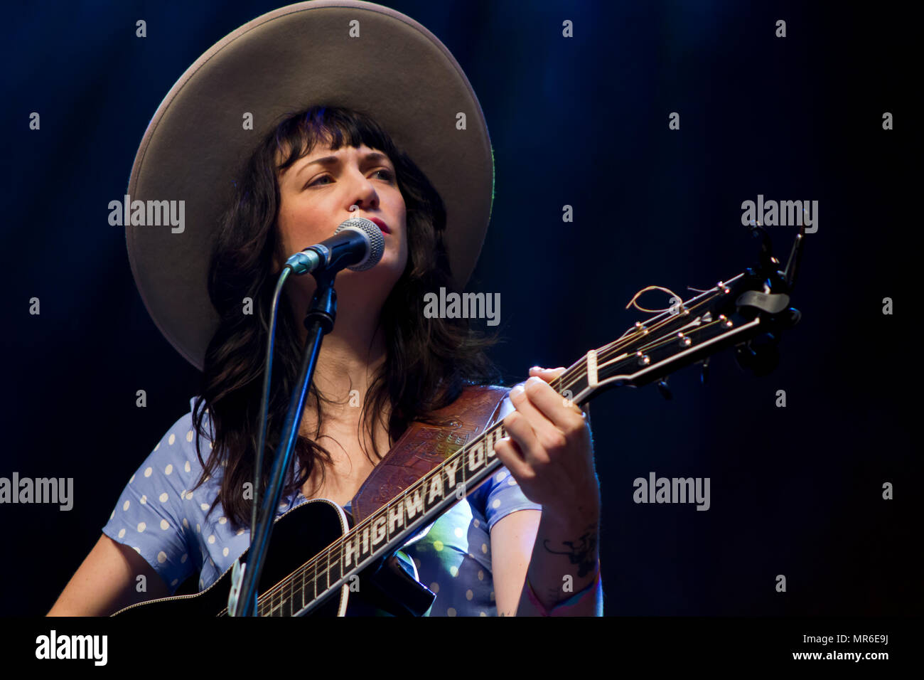 Nikki Lane performs in live concert - Stock Image
