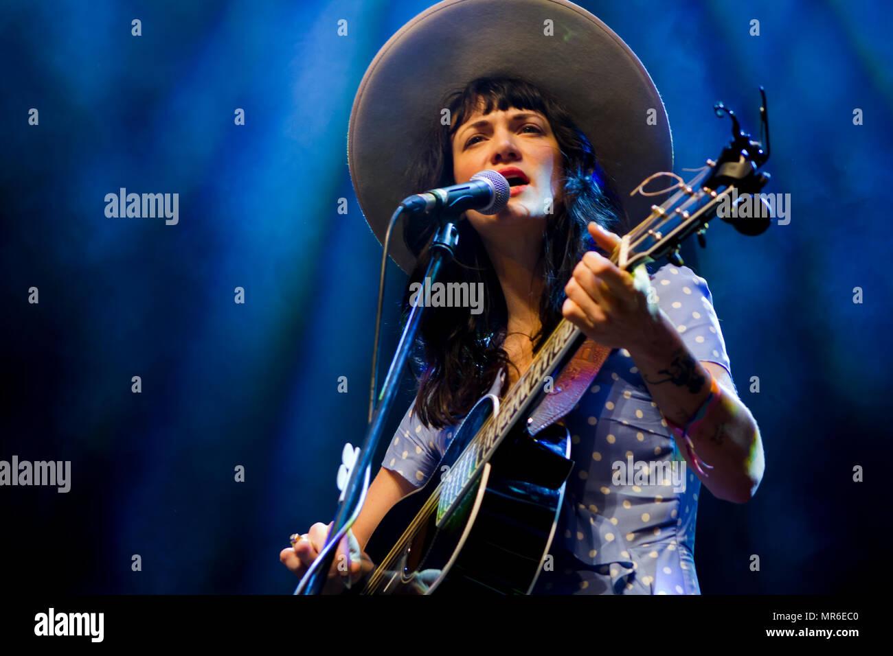 Nikki Lane performs in live concert - Stock Image