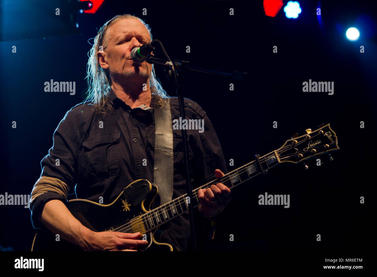 Rock band SWANS performs live concert at music festival - Stock Image