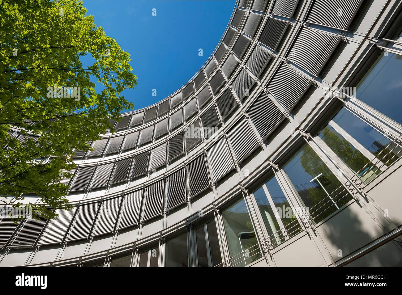 Round facade, office building Thirty Five, Maximilianstraße, Old Town, Lehel, Munich, Upper Bavaria, Bavaria, Germany - Stock Image