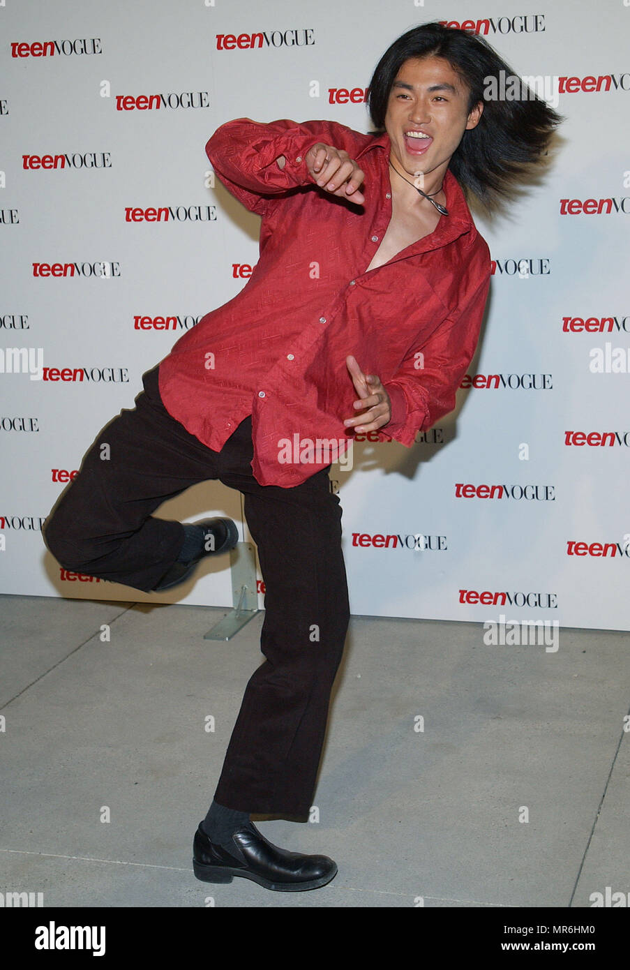 "Shin Koyamada (Tom Cruise's co-star in The Last Samurai) arriving at the "" TEEN VOGUE 1ST ANNUAL YOUNG HOLLYWOOD ISSUE "" in  a private residence in Beverly Hills (Los Angeles). September 5, 2003.  KoyamadaShin106 Red Carpet Event, Vertical, USA, Film Industry, Celebrities,  Photography, Bestof, Arts Culture and Entertainment, Topix Celebrities fashion /  Vertical, Best of, Event in Hollywood Life - California,  Red Carpet and backstage, USA, Film Industry, Celebrities,  movie celebrities, TV celebrities, Music celebrities, Photography, Bestof, Arts Culture and Entertainment,  Topix, vertical,  Stock Photo"