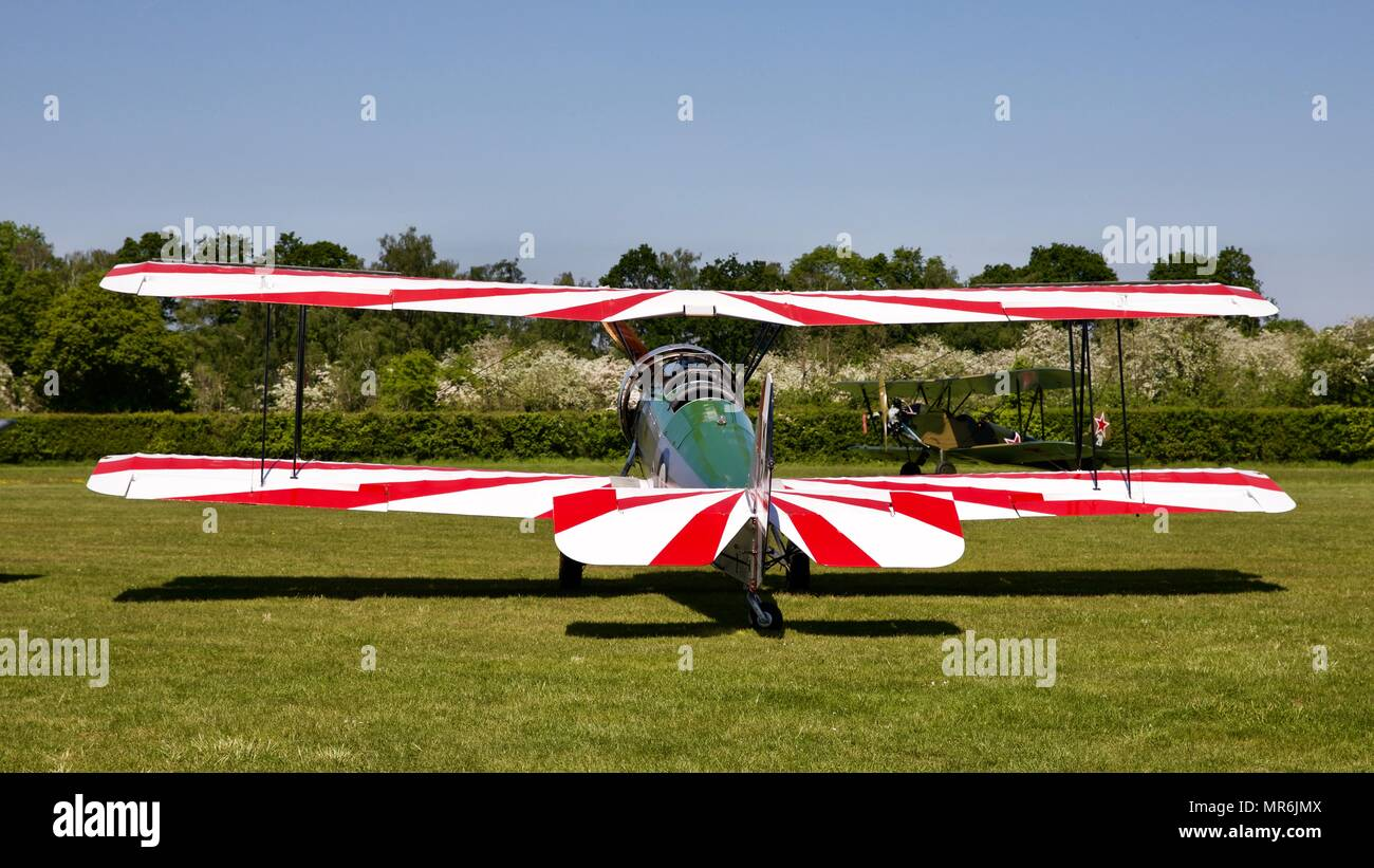 Avro 621 Tutor on static display Old Warden - Stock Image