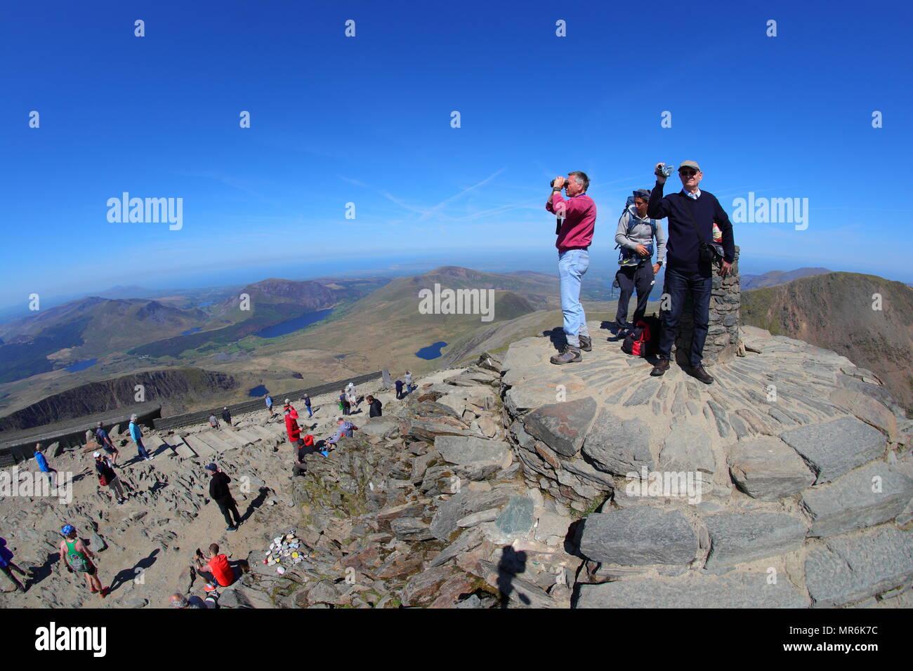 Snowdon Summit - North Wales Tourist Hotspot - Stock Image