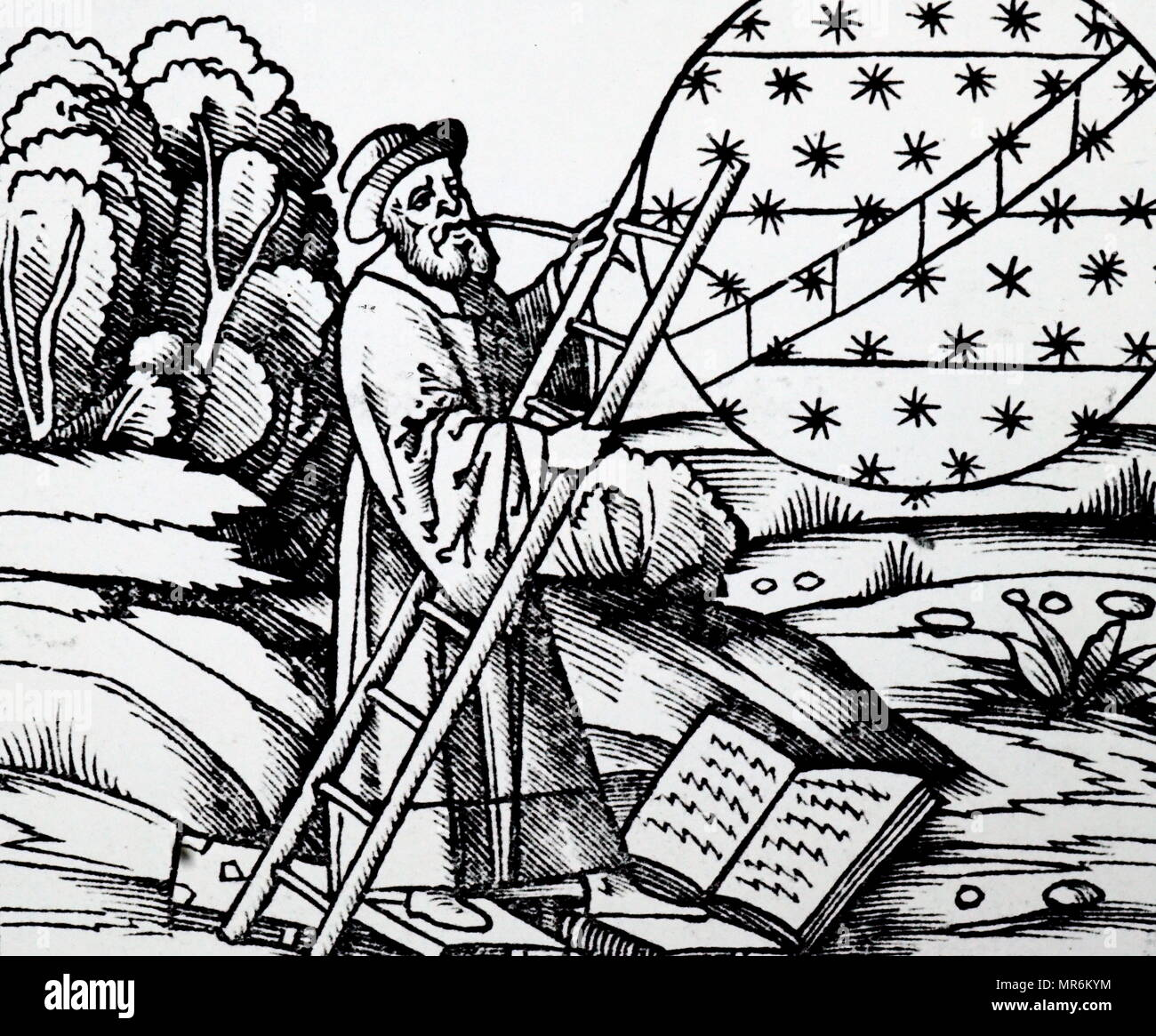 Woodblock Engraving Depicting Jacobs Ladder The Connection Between Earth And Heaven That Biblical Patriarch