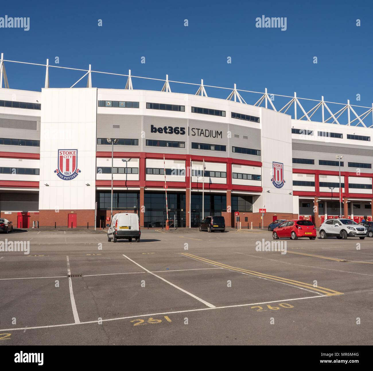 Entrance to Stoke City football stadium - Stock Image